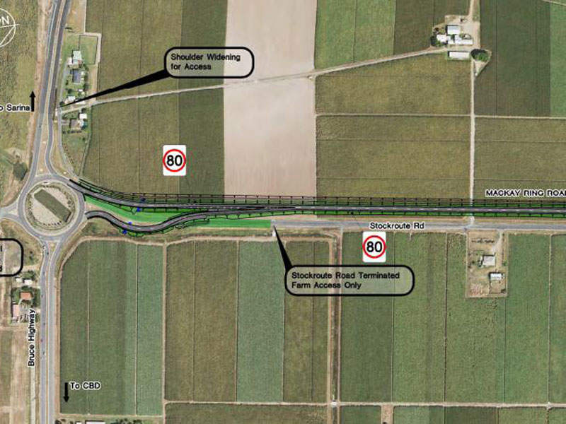 Phase one will improve safety and reduce travel time across the corridor. Image courtesy of Queensland Government.