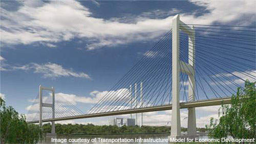An artist's rendering of the bridge.