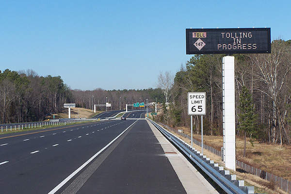 The Triangle Expressway will relieve commuters from heavy congestion. Image courtesy of N.C. Department of Transportation.