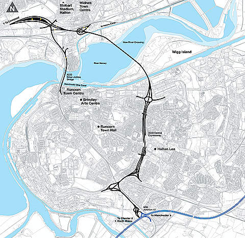 The project provides a new strategic transportation link to the north Cheshire, Liverpool city region and the north west, along with the rest of the country.