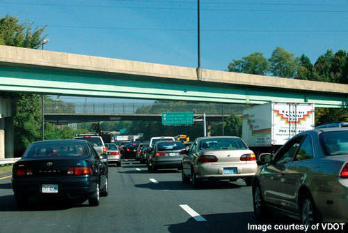 The Capital Beltway is currently often congested, but high-occupancy lanes are hoped to encourage ride sharing and therefore fewer vehicles.
