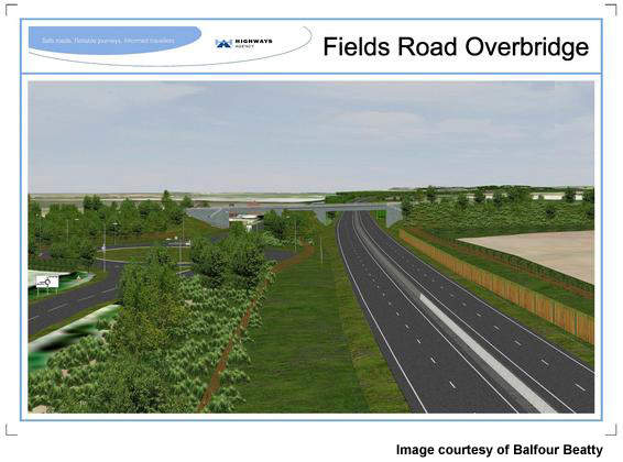 Construction has already started on the Salford and Fields Road bridges.