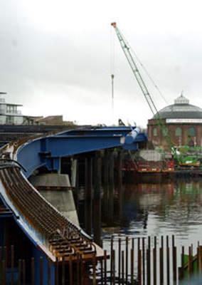 Finnieston Bridge constuction.