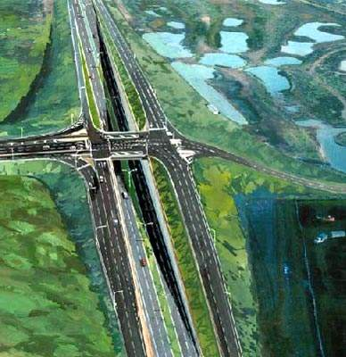 Artist's impression of the Hanson Road overpass.