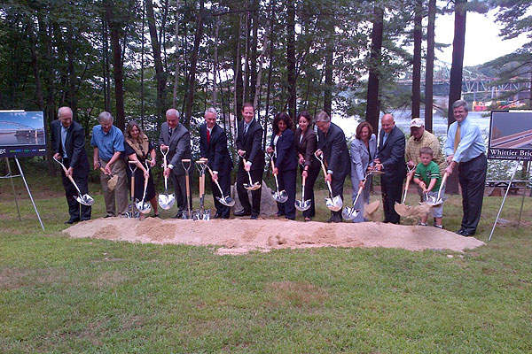 The groundbreaking ceremony for the project was held in August 2013. Image courtesy of Massachusetts Department of Transportation.
