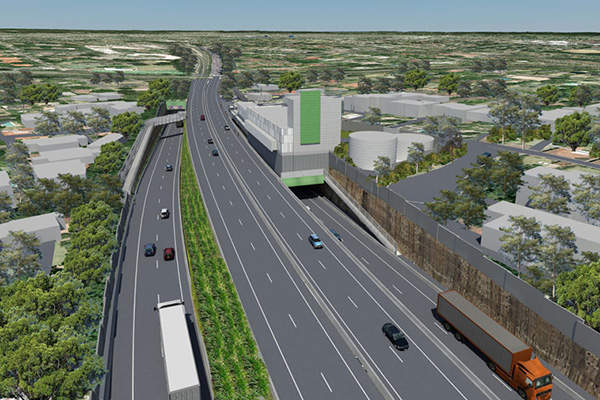 The M1 Pacific Motorway and Pennant Hills Roads will be linked to the tunnel via the Northern interchange.
