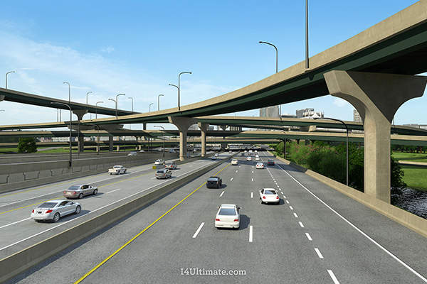 The I-4 Ultimate project will include the construction of four new tolled Express Lanes, two in each direction. Image courtesy of I-4 Mobility Partners.
