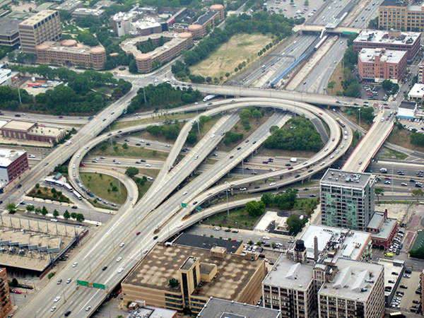 The project will ease congestion and improve the Jane Byrne Interchange's capacity. Image courtesy of Stratosphere.