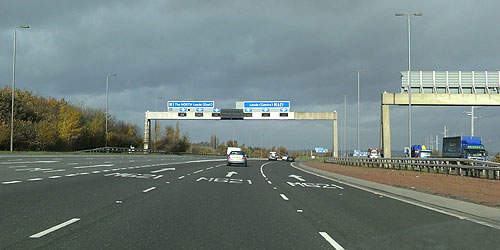 The M1 stretches 200 miles, starting in London and finishing in Hook Moor.