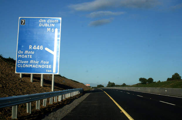 The total length of the motorway that connects the east and west coast of the country is 194km.