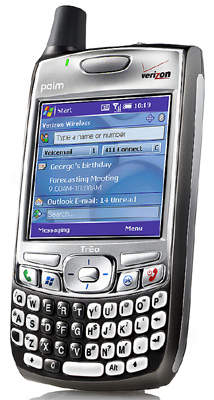 Palm Treo, the prefered wireless PDA for the system.