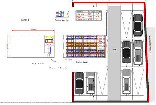 A plan of the first floor of the facility.