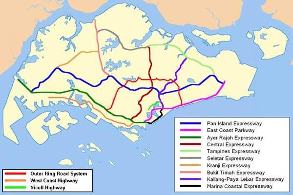 The link is common to Ayer Rajah Expressway (AYE), East Coast Parkway (ECP) and the Kallang-Paya Lebar Expressway (KPE).