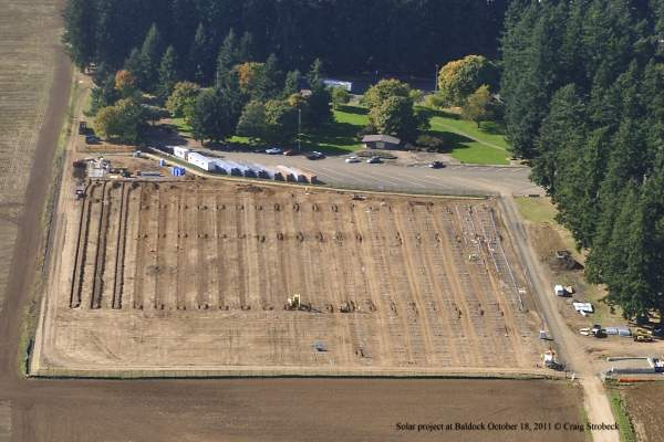 The seven-acre site of the Baldock Solar Highway Project. Image courtesy of the Oregon Department of Transportation.