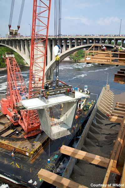 The chosen design was for a pre-stressed concrete segmental box girder bridge with two different curved pier options.