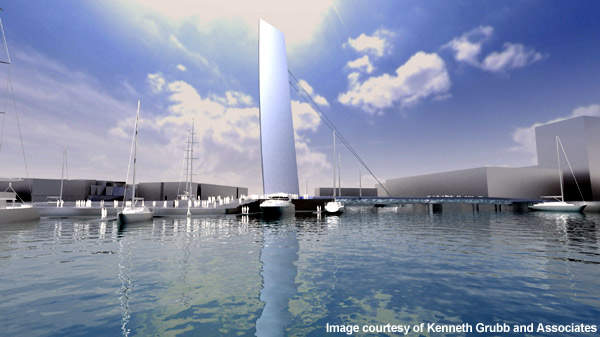 The bridge is expected to become a landmark in Auckland Harbour.