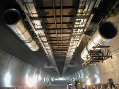 Tunnel ventilation jet fan.