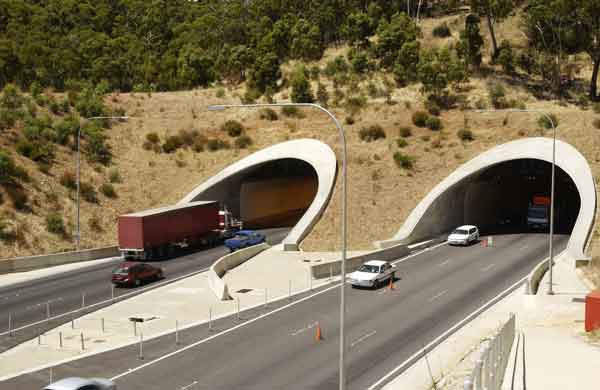 The twin tunnels of the Adelaide-Crafers Highway are a fantastic civil engineering achievement.