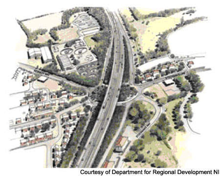 The Westlink M1 uprade includes widening improvements and new slip roads at Stockman's Lane.