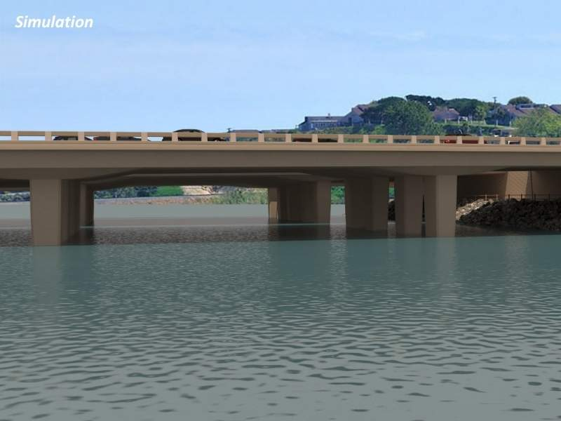 Simulation of the Batiquitos Lagoon Highway bridge after completion. Image courtesy of San Diego Association of Governments.