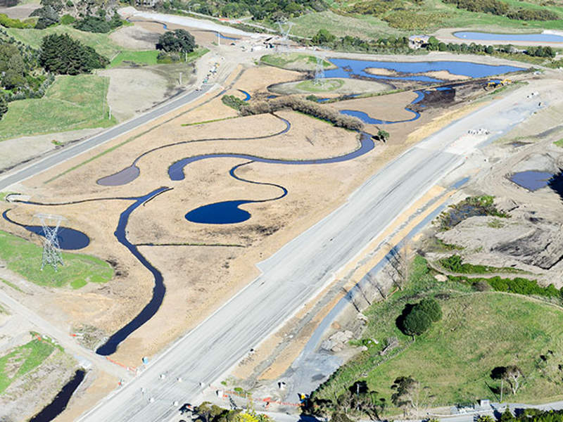 The Kāpiti Expressway is scheduled to become fully operational by 2020. Image courtesy of Boffa Miskell.