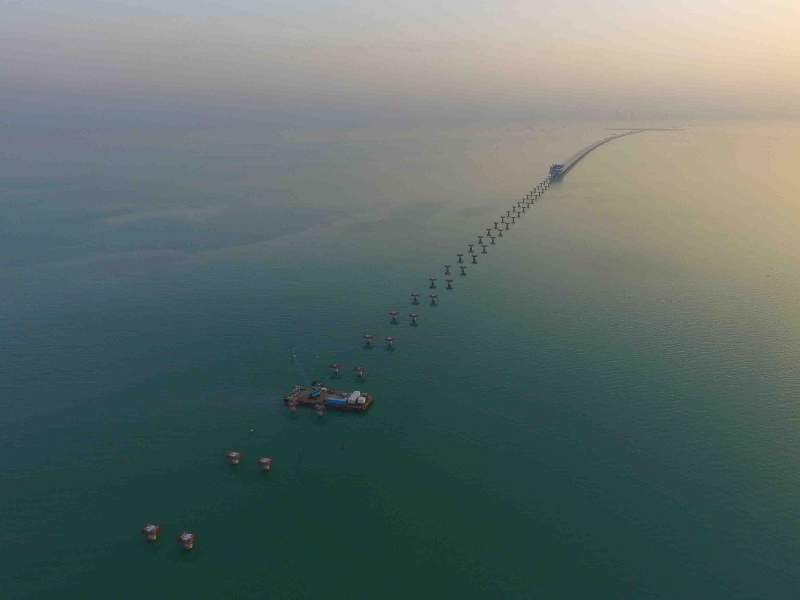 The Subiyah causeway is 37km-long. Image courtesy of Kuwait Ministry of Public Works.