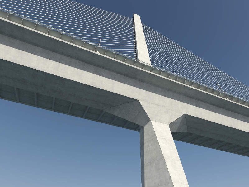 The new Storstrøm bridge will include a central pylon between the two navigation spans. Image courtesy of Vejdirektoratet.