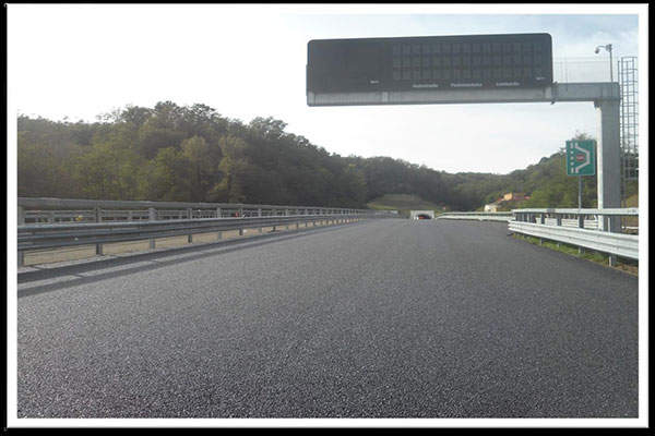 The newly constructed Section A of the Pedemontana Lombarda Motorway.