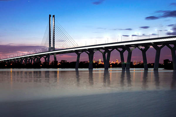 The new bridge will have a have design life of 125 years. Image courtesy of Infrastructure Canada.