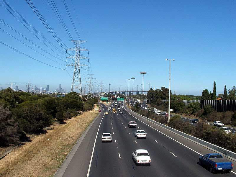 The road widening includes the addition of an extra lane on the Bolte Bridge and a section of the West Gate Freeway. Image courtesy of JohnnoShadbolt