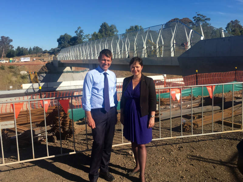 The project involves widening Gipps Street and Kent Road to four lanes between M4 Motorway and the Great Western Highway. Image courtesy of Tanya Davies MP.