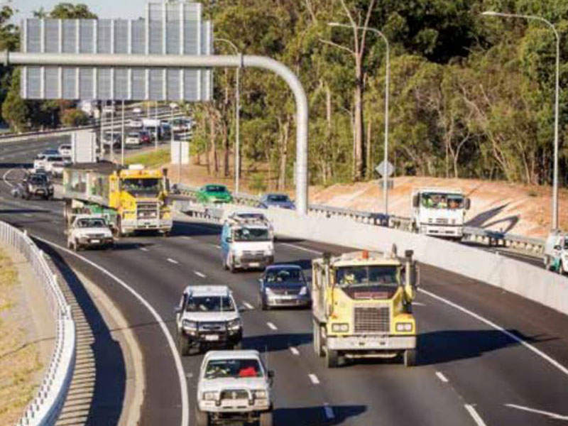 Improved capacity of the Logan Motorway network will significantly reduce journey times. Image courtesy of Queensland Motorways Management Pty Ltd.