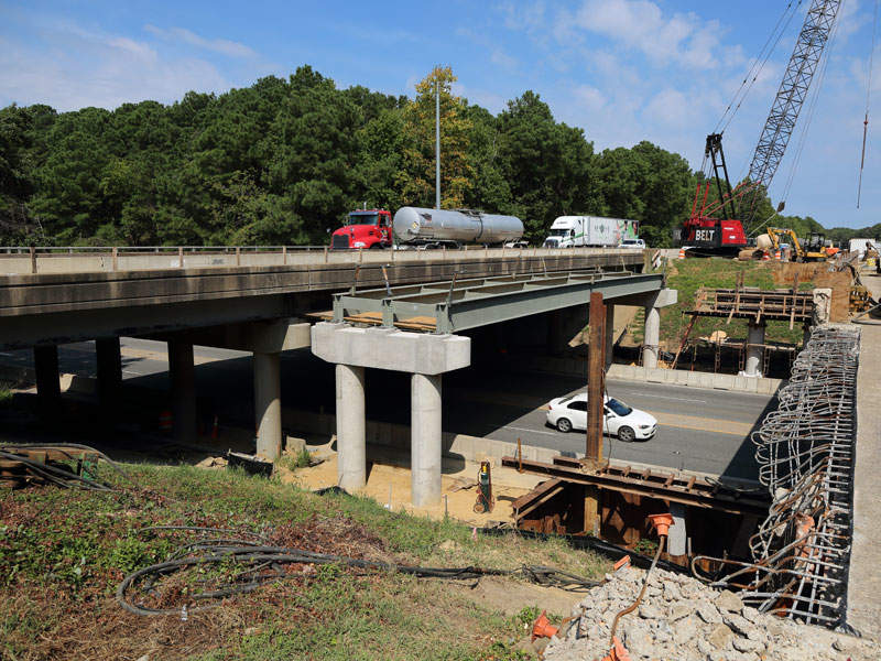 The I-64 improvements project includes widening of nine existing bridges and six box culverts in second segment. Image courtesy of Virginia Department of Transportation.