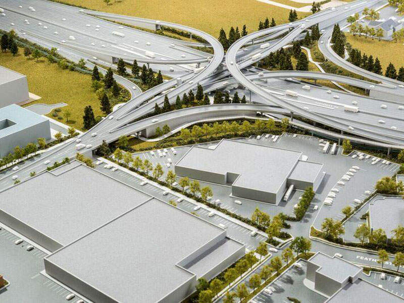 Steveston interchange connecting to River Road is one of the three interchanges being replaced as part of the George Massey tunnel replacement. Image courtesy of B.C. Ministry of Transportation and Infrastructure.
