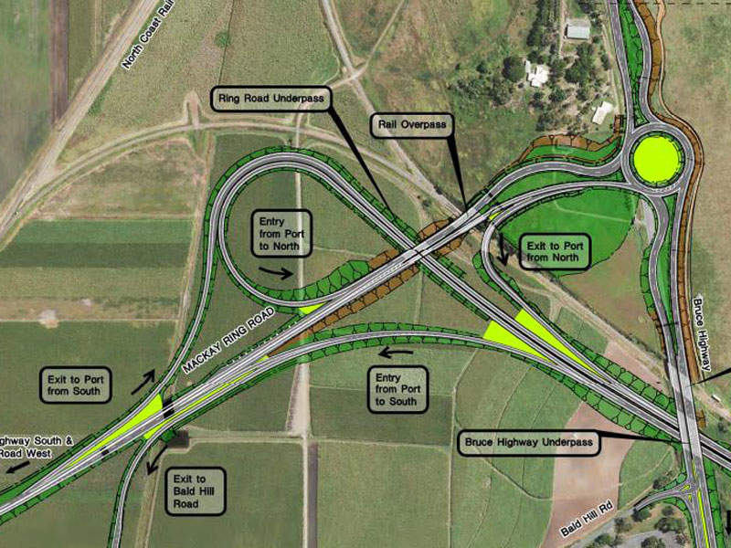 The project is planned to be implemented in three phases. Image courtesy of Queensland Government.