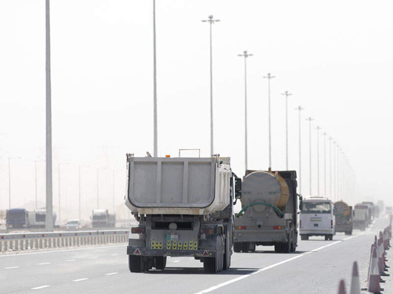The 29km-long connecting road between the East West Corridor and Dukhan Highway was opened in April 2017. Image courtesy of Ashghal.