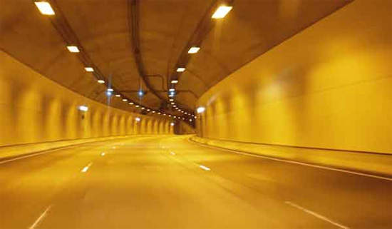 Inside each tunnel has three wide lanes and state-of-the-art safety equipment.