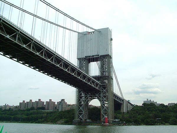 Each tower of the GW Bridge is composed of 1,250ft sections.