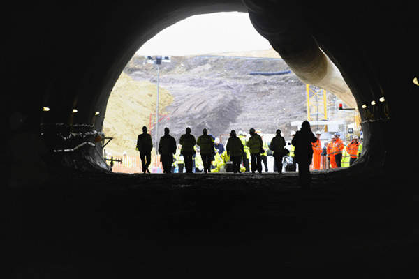 The tunnel will be the longest non-estuarial tunnel in the UK.