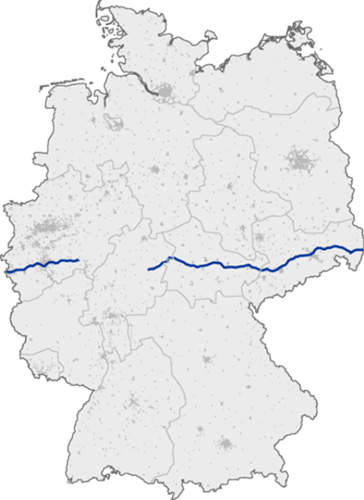 The A4 has a section missing due to the separation of East and West Germany; the project to close this gap is still in early planning stages.