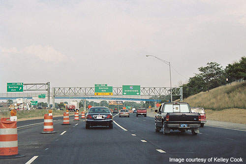 Reconstruction of the I-75 and I-96 freeways was carried out under Phase 4 of the project.