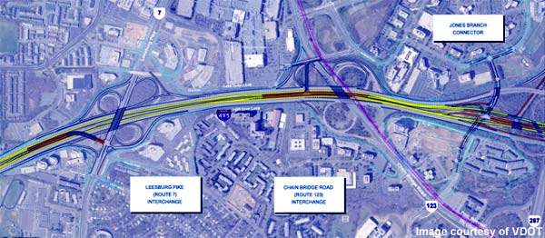 The Tysons Corner interchange on the Capital Beltway will see a number of improvements.