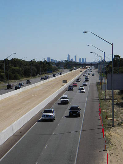 The overall estimated cost of the Kwinana Freeway widening project was $58m.