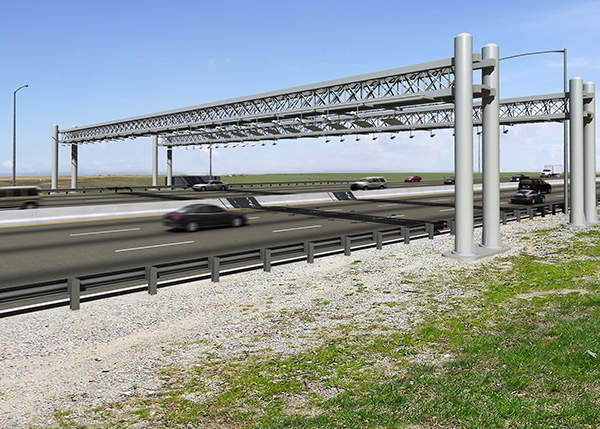 Automatic toll collection systems are installed along the ERTP. Image courtesy of Trevor Wrayton, VDOT.