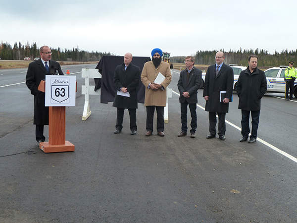 A $778m twinning project on 188km section of the Alberta Highway 63 was started in late 2012. Image courtesy of Government of Alberta.