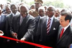 President of Kenya Mwai Kibaki officially inaugurated the superhighway.