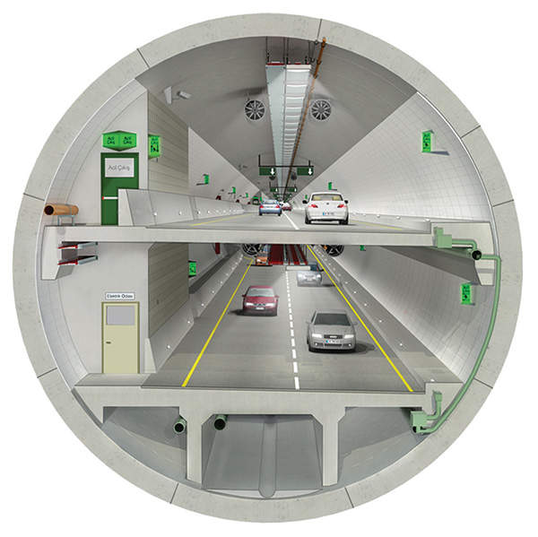 The 5.4km tunnel comprises two decks.