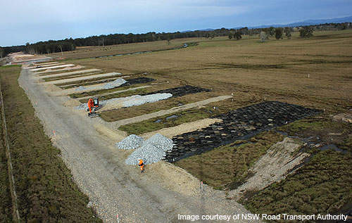 Around 450 people were recruited for the construction of the Kempsey bypass.