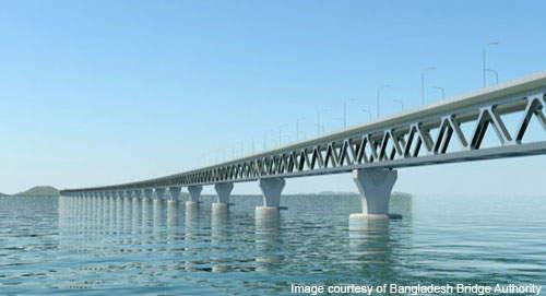 Padma Bridge was designed by AECOM.