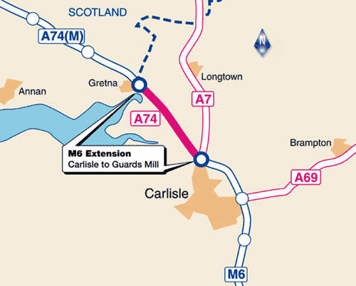 The extension project will finally link the Scottish and English motorway systems.